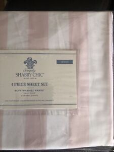 Rachel Ashwell Simply Shabby Chic Polyester Fabric Queen Cabana Floral Sheet Set