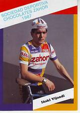 CYCLISME carte cycliste INAKI VIJANDI équipe ZAHOR chocolates 1987