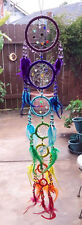 NEW HANDMADE NATIVE AMERICAN DESIGN BEADED DREAMCATCHER WITH CHAKRA FEATHERS