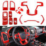 Full Interior Center Console Trim Cover Dashboard Bezels Kit for Ford F150 2015+