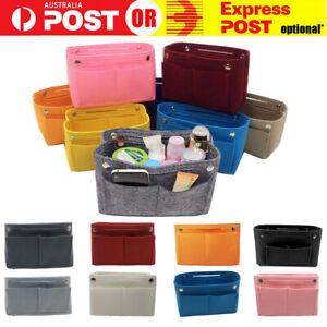 Travel Organiser Handbag Felt Bag Tote Insert Liner Purse Pouch Women 3 Sizes AU