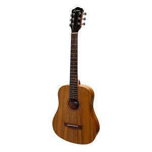 New Martinez Babe Traveller Mini Acoustic Travel Guitar (Koa)