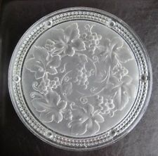 Art Deco Intaglio Moulded Glass Cake Plate Stand Tray or Similar