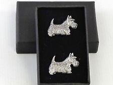 Scottish Terrier Scottie Dog Fine English Pewter Cufflinks Gift Mens Boxed