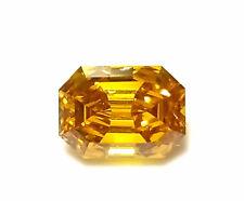 Zimi Diamond - 0.55ct Natural Loose Fancy Vivid Yellow Orange GIA Emerald SI1