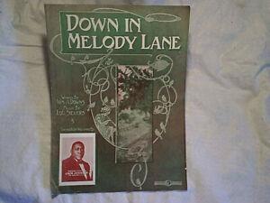 1911 HEAVYWEIGHT BOXING CHAMPION JACK JOHNSON SHEET MUSIC,Down In Melody Lane
