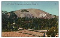 Mid-1900s Stone Mountain showing Confederate Memorial, Atlanta, GA Postcard