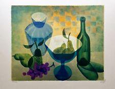 "Louis TOFFOLI - ""Nature morte au raisin"" - Lithographie originale signée - 1971"