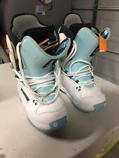 Burton Freestyle Women Snowboard Boot Size 6 White/baby Blue