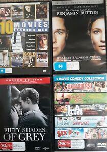"BULK  MOVIES  x 17    ""MIXED GENRE: COMEDY  /  DRAMA  /  ACTION""    R. 4   DVD's"