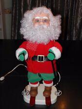 "Rare 1994 20"" Santa's Best Skiing Santa Motion Figure Animated Motionette"