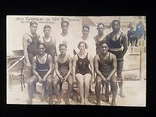 1924 Olympic Games France Nation Hawaiian Team Postcard Duke Kahanamoku