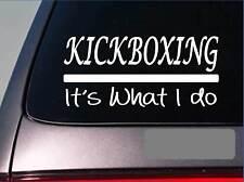 Kickboxing sticker decal *E356* black belt master judo spar karate mma grappling