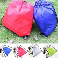 Swag Sport Plain Waterproof Bag Drawstring Backpack Gym PE Swim School Dance