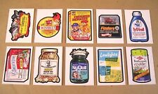 2017 Wacky Packages 50th Anniversary Series OLD SCHOOL STICKER SET of 10 cards