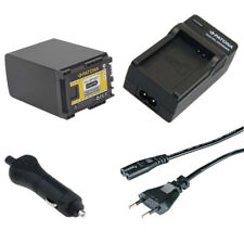 Batteria Patona + caricabatteria casa/auto per Canon Legria HF G10,HF G20