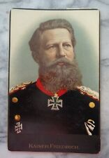 Antique Cabinet Card - Kaiser Friedrich in Color