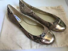 JIMMY CHOO Ballerinas Schuhe Slipper Gr. 41 Damen Schlangenleder Python - NEU!