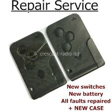 Complete REPAIR SERVICE Renault Megane Scenic 3 button remote key card + case