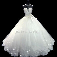 New Lace Ivory/White wedding bridal gown dress custom size 4-6-8-10-12-14-16+++