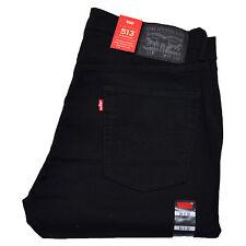 Levis 513 Jeans Slim Straight Stonewashed Blue Black Indigo White All Sizes New
