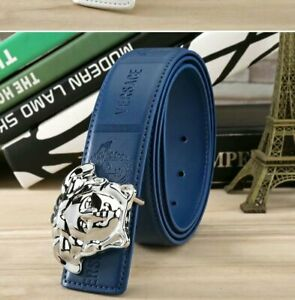 NEW VJC Versace Logo Belt  blue