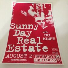 Sunny Day Real Estate No Knife 8/2/2000 Vancouver BC Canada Concert Poster! NEW!