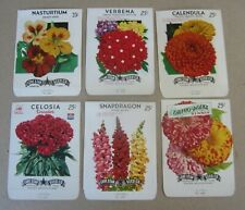 EMPTY Lot of 2 Old Vintage 1950/'s Large Size Flower SEED PACKETS
