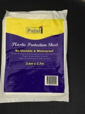 2 x PLASTIC DROP SHEET3.6M X 2.7M PAINTING DROPSHEET PROTECTIVE PAINT COVER