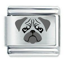 PUG FACE Dog * Daisy Charms Fits Nomination Classic Italian Bracelet