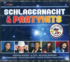 SCHLAGERNACHT & PARTYHITS - 3 CD COMPILATION NEW AND SEALED