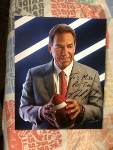 Autographed 8x10 Nick Saban Alabama Crimson Tide Football HOF Photo NCAA