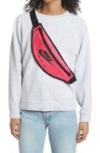 New Nike Heritage Hip Fanny Pack Waist Bag Running Training Casual Pink Belt Bag