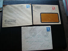 FRANCE - 3 enveloppes 1950/1952/1952 (cy70) french