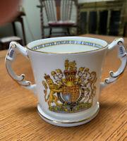 Vintage Queen Elizabeth II Silver Jubilee Commemorative Loving Cup Aynsley Eng.