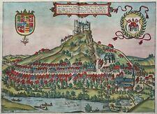 Bad Segeberg - Arx Segeberga - Braun & Hogenberg 1588 - Altkoloriertes Original