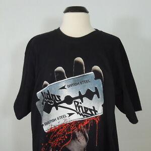 - JUDAS PRIEST British Steel Black Short Sleeves Men's size XL (NEW) NWOT