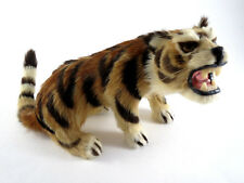 Antique REAL FUR Miniature Tiger Taxidermy ANIMAL Figures Stuffed Toy Plush