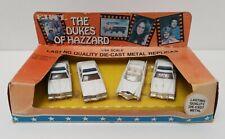 Vtg Dukes of Hazzard 1/64 Ertl 1570 County Police Cruisers & Boss Hoggs Caddy