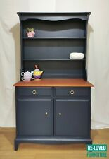 Original Stag Dresser Kitchen Cupboard Sideboard - Painted - Deep Blue India Ink