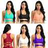 New Womens Sports Tank Tops Padded Push Up Bra Vest Gym Fitness Yoga Crop Shirts