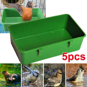 5PCS Food Container Feeder Cup Hanging Cup Bird Cage Parrot Holder Water Bowl