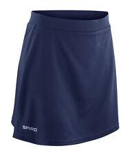 SPIRO Sports Skort Skirt Shorts 3 Cols 10 to 18 Gym Hockey Tennis Netball Track Navy Blue L - 14