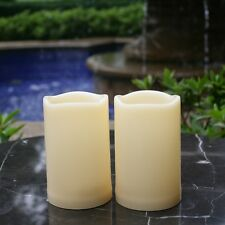 """2-Pack  5"""" Long Lasting Battery Operated Outdoor Flameless LED Candles w/ Timer"""