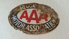 Vintage AAA Oregon State Motor Association Porcelain Automobile Sign USA HTF