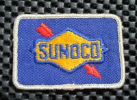 """SUNOCO GAS OIL EMBROIDERED PATCH BLUE ADVERTISING UNIFORM 2 3/4"""" x 2"""""""
