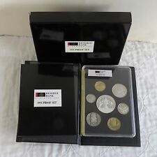 NEW ZEALAND 1991 7 COIN  PROOF YEAR SET WITH SILVER RUGBY $5 - complete