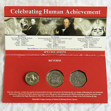 2004 BRITAIN'S NEW COINAGE COMMEMORATIVE 3 COIN B/UNC PACK -  sealed pack