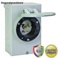 Reliance Controls PB50 50 AMP Outdoor Generator Power Cord Inlet Box 12,500 Watt