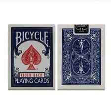 BICYCLE RIDER BACK BLUE DECK OF PLAYING CARDS X 2 USPCC POKER MAGIC TRICKS GAME